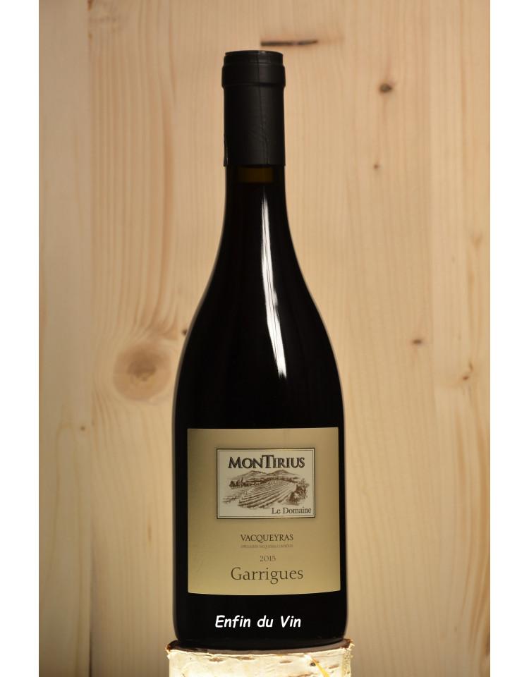 garrigues 2015 vacqueyras domaine de montirius rhône grenache noir syrah vin rouge bio biodynamie biodyvin