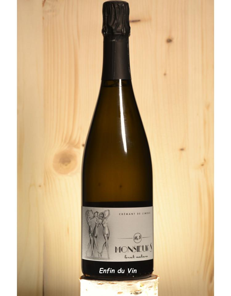 brut nature crémant de limoux monsieur s chardonnay vin effervescent biologique languedoc-roussillon
