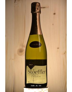 extra brut crémant alsace domaine stoeffer chardonnay pinot blanc auxerrois vin effervescent biologique