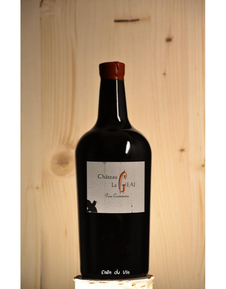 carmine 2016 bordeaux château le geai carménère vin rouge bio naturel biodynamie demeter