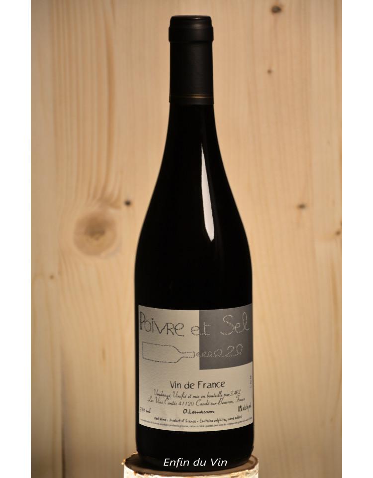 poivre et sel 2020 vin de france les vins contés lemassson val de loire pineau d'aunis gamay vin rouge bio naturel