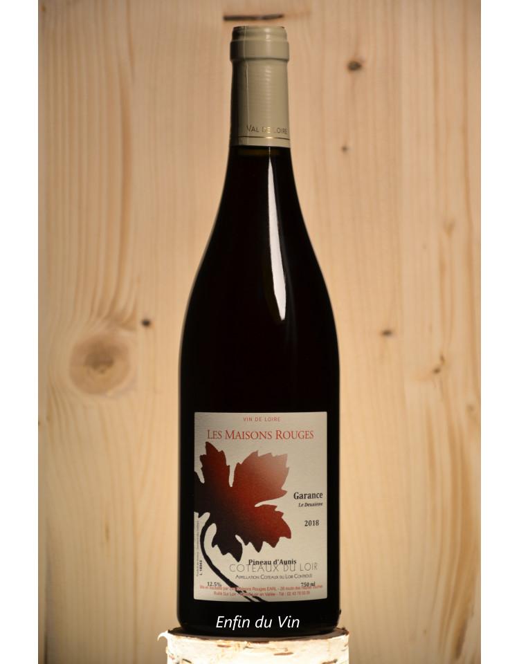 garance le deuxième 2018 coteaux du loir domaine les maisons rouges pineau d'aunis  vin rouge bio biodynamie biodyvin