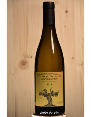 2019 mâcon verzé domaine nicolas delfaud vin blanc bourgogne chardonnay